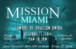 Mission Miami United Prayer Summit - span